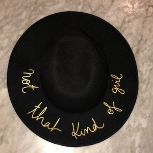 "Zara ""Not that kind of girl"" hat"